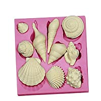 FMY 3d Marine動物シェルシリコンケーキ型チョコレートsm-091 ピンク 6955045567886