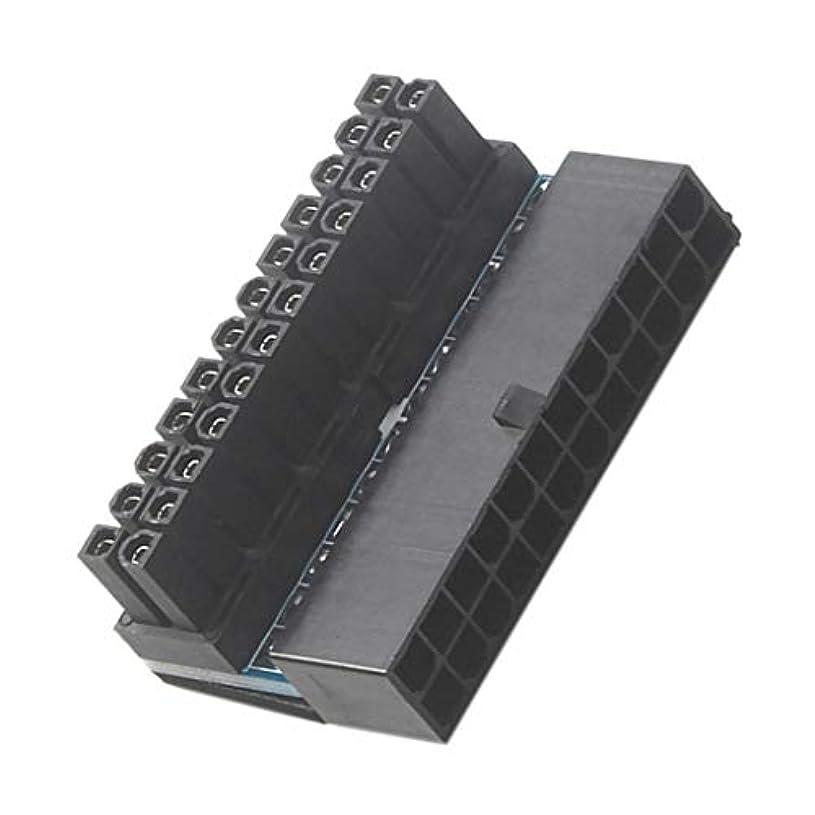 日付熟読する組立交換パーツ デスクトップ用 ATX 24ピンメス 24ピンオス直角電源アダプター