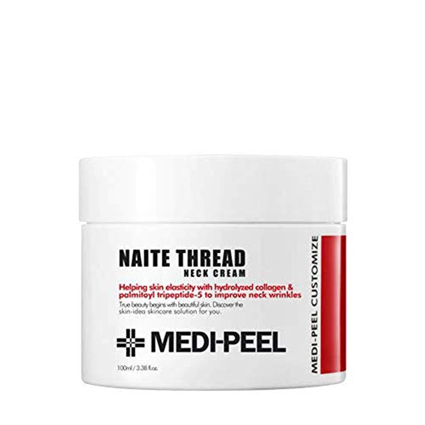 欠陥チャンバー通知するメディピール Medi-Peel Naite Thread Neck Cream年輪糸ネックのクリーム 100ml