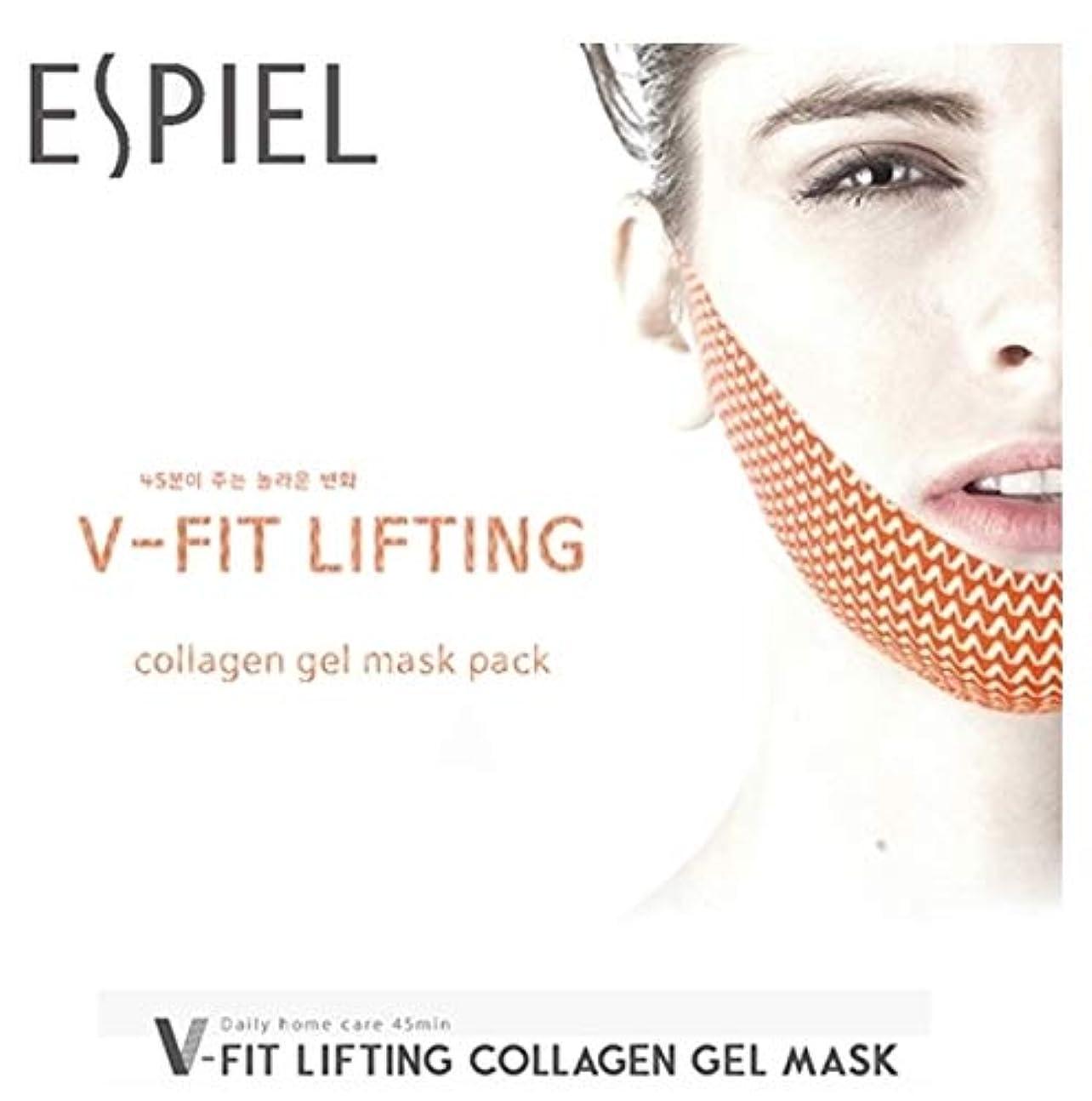 脱臼する優れましたペース【ESPIEL]五ピットリフティングコラーゲンゲルマスク(5EA)/ V FIT LIFTING COLLAGEN GEL MASK(5EA)