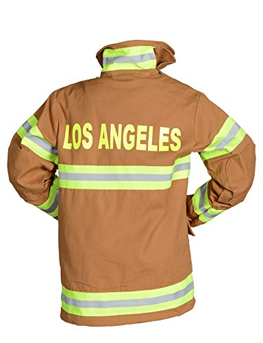 Aeromax Jr。Los Angeles Fire Fighter Suit、ブラック、サイズ2 / 3。The Best # 1 Award Winning消防士スーツ。最もリアルなBunkerギアfor Kids Everywhere。Just Like the Real Gear 。 4 / 6 FT-LA-46