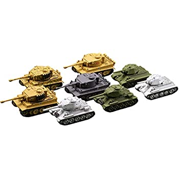 ミニチュア キューブ miniQ ワールドタンクディフォルメ7 激闘 東部戦線編 ティーガー VS T-34 8種 PVC製 塗装済み 完成品 8個入 BOX