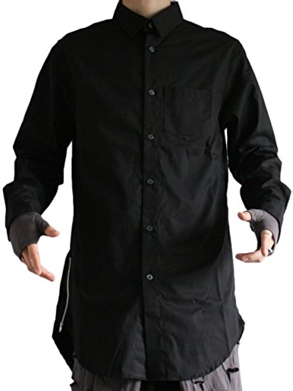 賄賂タバコ日(アズスーパーソニック) AS SUPER SONIC ZIP スリット ロング丈 ドレス シャツ