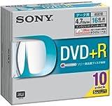 Sony DVD+R 4.7GB データ用 16倍速対応 ホワイトプリンタブル 10枚パック 10DPR47HPSH