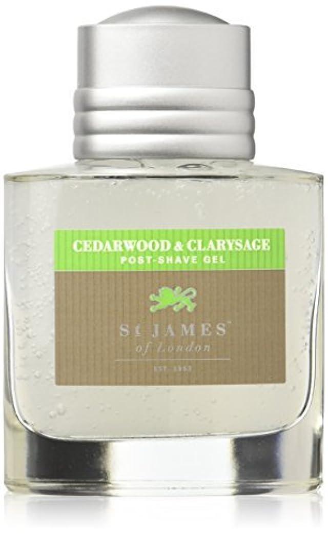 爆風木製説得St James of London Cedar wood & Clarysage Post Shave Gel [並行輸入品]