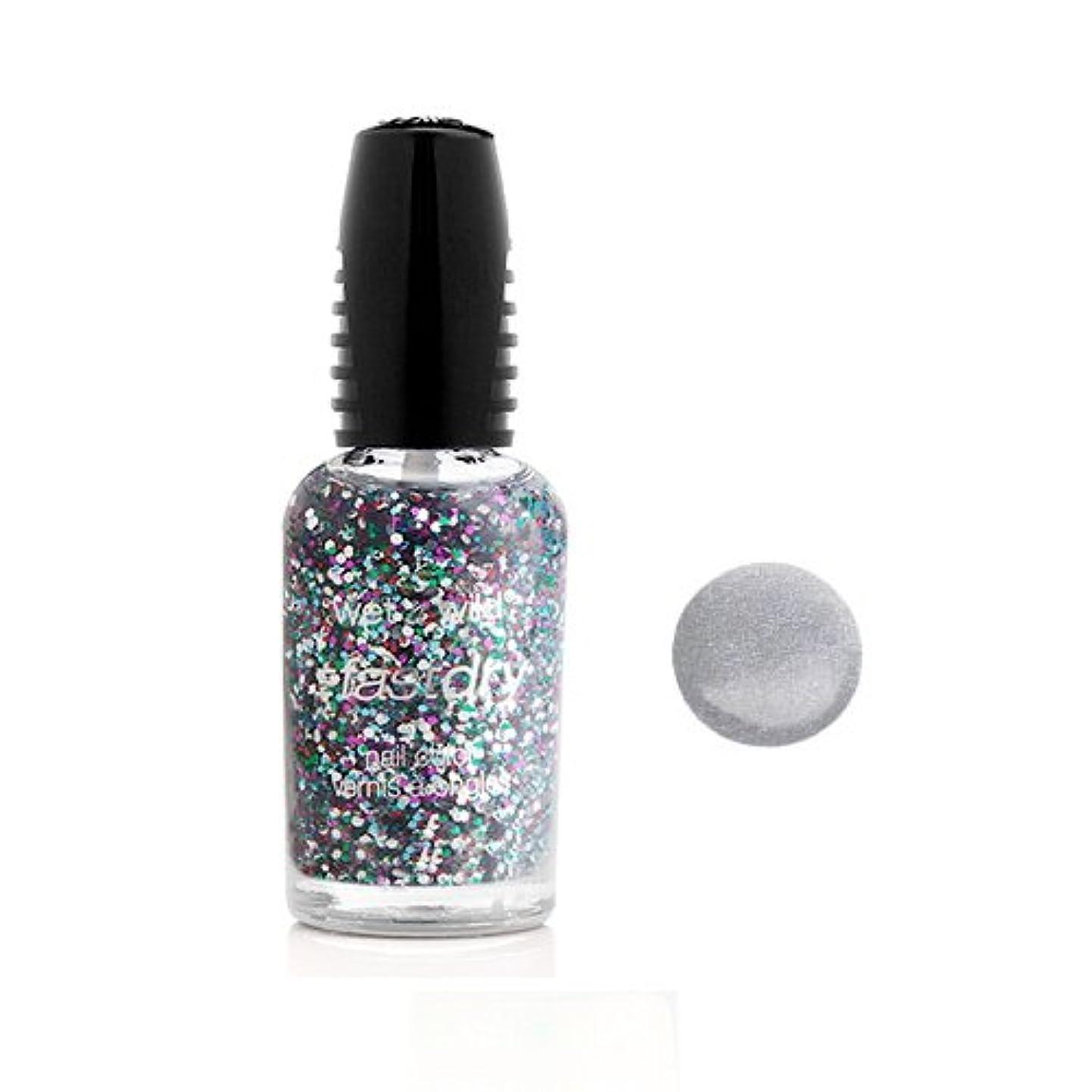 グロー焦がす貫通(3 Pack) WET N WILD Fastdry Nail Color - Silvivor (DC) (並行輸入品)