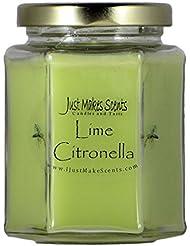 シトロネラ(虫除け)香りつきBlended Soy Candle屋内使用だけでMakes Scents CS-663H-A4VP