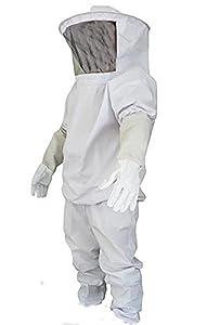 [PEGAZOU™(ペガ蔵) ]養蜂 蜂 防護服 フェイスネット付 上下手袋3点セット 蜂の巣 害虫 蜂 駆除 に