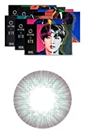 [2枚入り] BTS ディエヌエイ&アイドル(BTS DNA&IDOL) by OLENS カラコン 1ヶ月 マンスリー 度あり度なし 14.2mm BTSカラコン 防弾少年団 (アイドルマイセルフグレー(IDOL GR), PWR: -2.75)