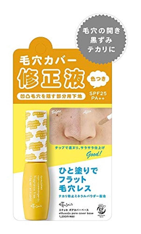プリーツプラカード半ばエテュセ ポアカバーベース 頬?鼻用の部分用化粧下地 SPF25?PA++ 7.5g