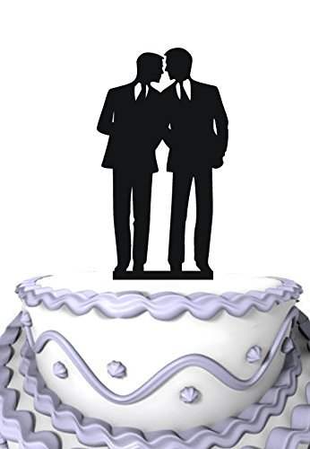 Meijiafei Homosexual Wedding Cake Topper Same Sex Cake Topper Gay Wedding Cake Topper [並行輸入品]