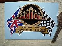 Cotton Flag & Scroll Sticker コットン フラッグ ステッカー シール デカール 海外限定 95mm x 65mm [並行輸入品]
