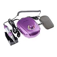 B Blesiya ネイルドリルマシン 交換用ビット ネイルアート プロ 自宅用 4色選べ - 紫