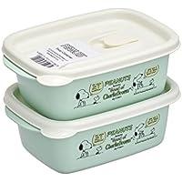 岩崎 食品保存容器 スヌーピー フラップ付きコンテナ400 2P A-040 BS