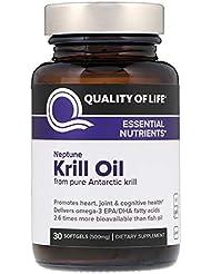 Quality of Life Labs ネプチューンクリルオイル 必須栄養素 500 mg ソフトジェル 30個 【アメリカ直送】
