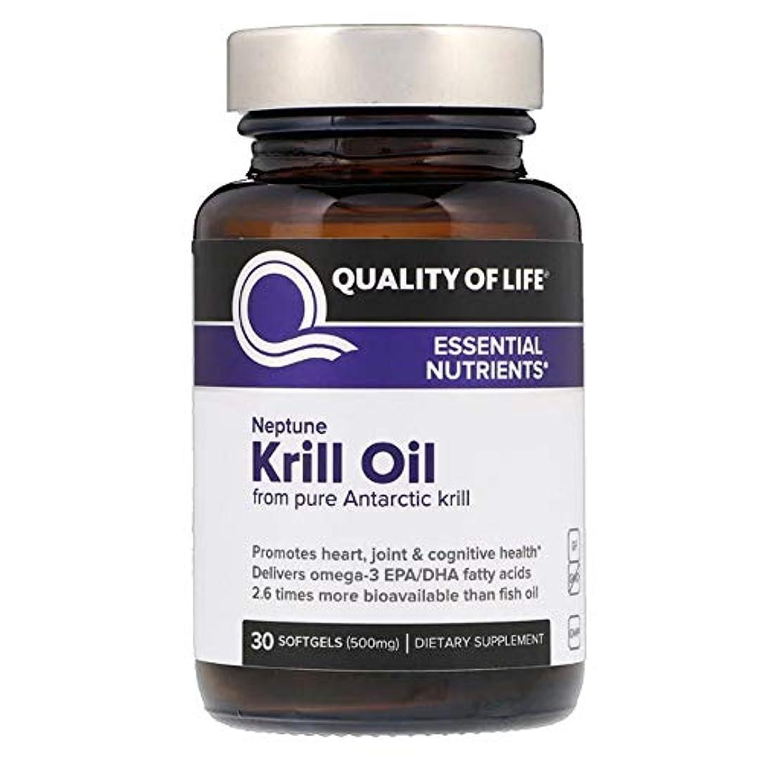 不規則なフレット本Quality of Life Labs ネプチューンクリルオイル 必須栄養素 500 mg ソフトジェル 30個 【アメリカ直送】