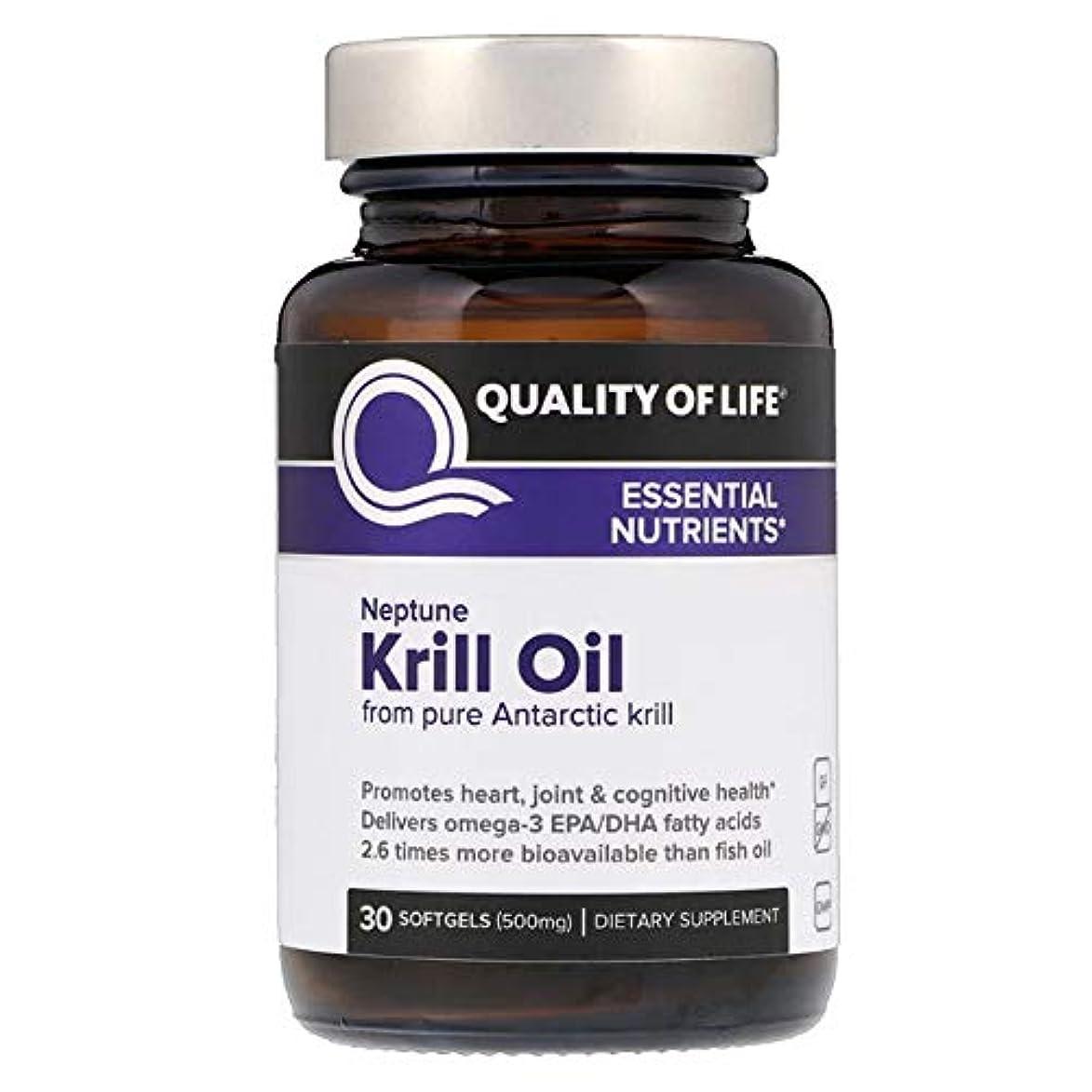 緊急絶滅なすQuality of Life Labs ネプチューンクリルオイル 必須栄養素 500 mg ソフトジェル 30個 【アメリカ直送】