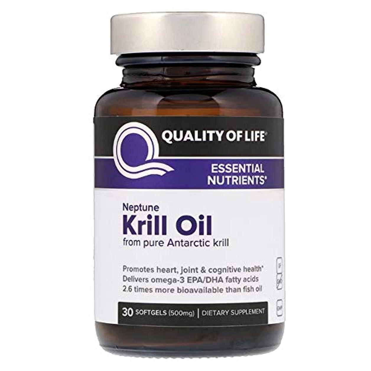 障害者無フルーツQuality of Life Labs ネプチューンクリルオイル 必須栄養素 500 mg ソフトジェル 30個 【アメリカ直送】