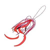 B Baosity シリコン スカート ソフトルアー フック付き 黒魚 サーモン ナマズ 魚キャッチツール 約15cm 赤