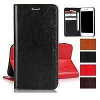 AQUOS SERIE SHV34/AQUOS Xx3 ケース 手帳型 sh-04h ケース 手帳型 アクオスSH-04Hケース財布型 携帯カバーJaorty牛革収納ポケットスタンド機能 耐久性 高級感大人っぽい手作りデザインオシャレ4色-ブラック