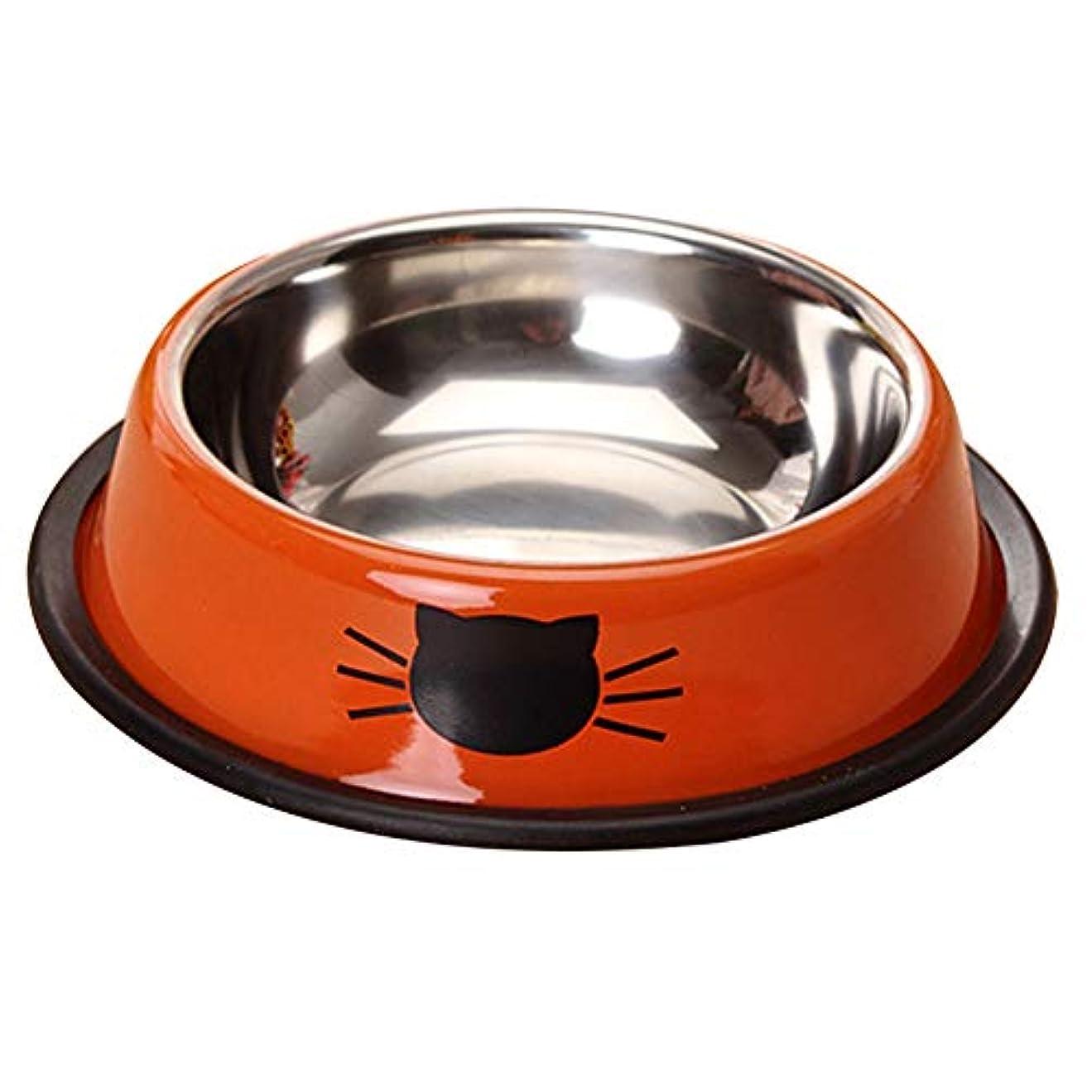 Erterqumor 犬 食器 ペットボウル ステンレス製犬猫用ボウル 犬猫用食器 餌入れ 食べやすい 滑り止め お手入れ簡単