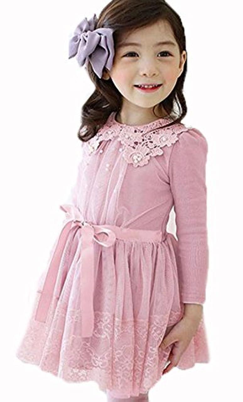 あなたが良くなります溶接ブランド(フンテン)FengTeng 子供服ワンピースフォーマル シフォン レースのワンピースワンピース リボン 入学式 入園式 卒園式ワンピース 結婚式 誕生日 プレゼント子供服 ガールズ 女の子 ドレス ワンピース 子供服
