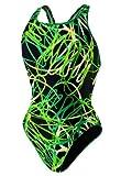 Speedo Big Girls ' Spiralカーブユースドロップバック水着 US サイズ: 22 カラー: グリーン