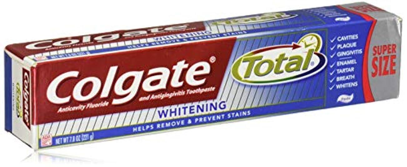 船尾慣れる壁Colgate トータルホワイトニング歯磨き - 7.8オンス