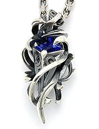 [エムズコレクション] Ms collection テンタクルス ラーヴァ ペンダント ネックレス シルバー シンセティック サファイア メンズ XP-021QAB