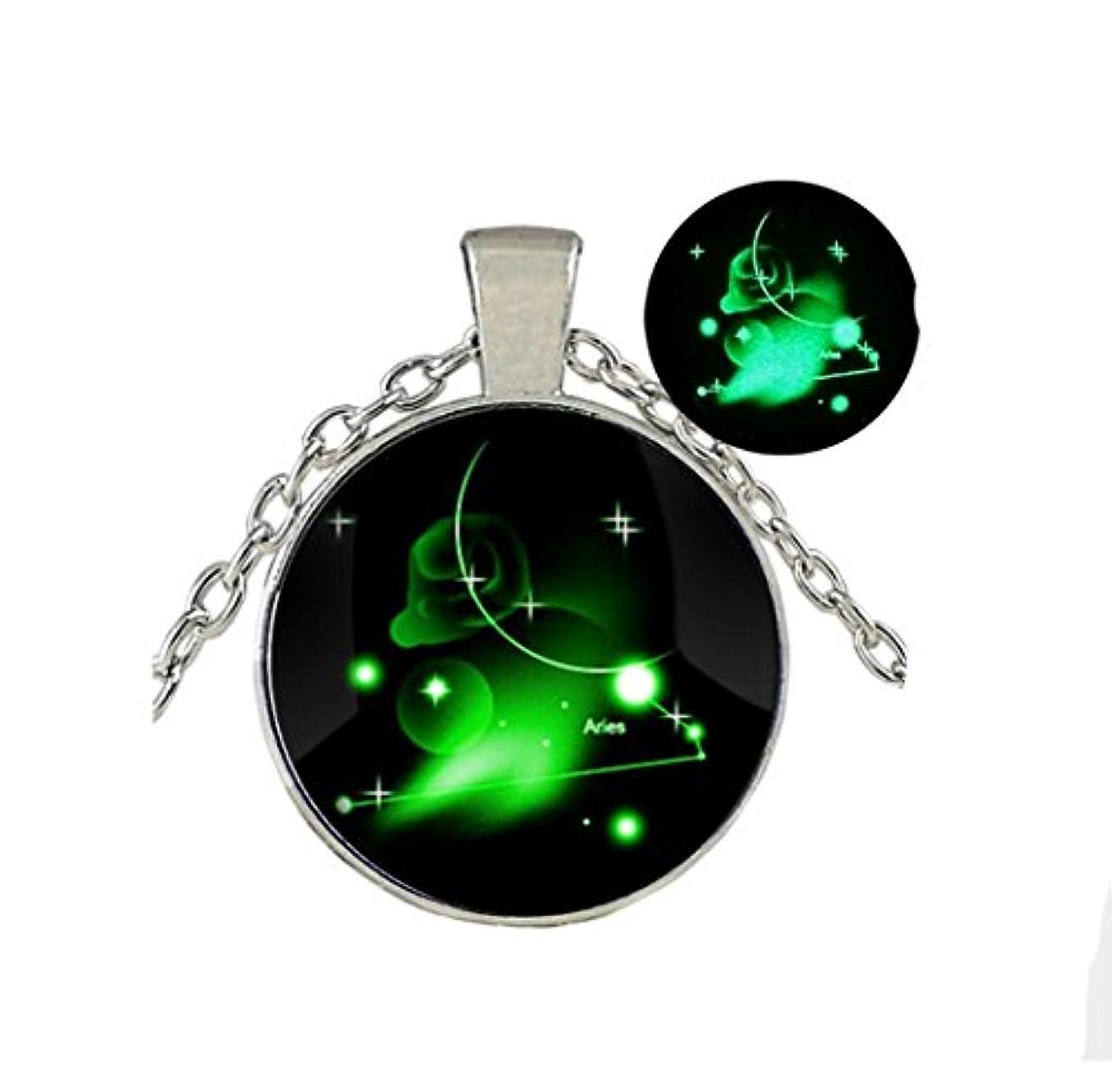 年齢水没拍車Glow in the Dark /グローネックレス/ Glowing Jewely / Constellation Ariesジュエリー