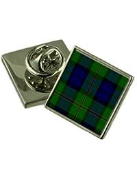 タータンチェックの Clan Dundas シルバー 925 ラペルピンバッジ