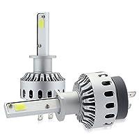 zodoo LEDヘッドライト H1 ワンタッチ取付 切替タイプ 高品質COBチップ搭載 6000Lm ホワイト 6500K 2個セット Z7PH1