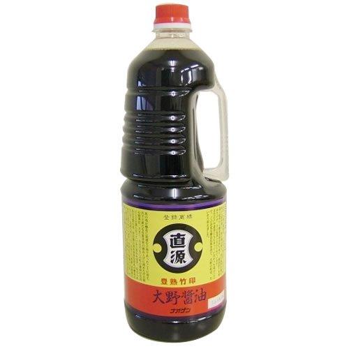 直源醤油 豊熟竹印 ペット1800ml