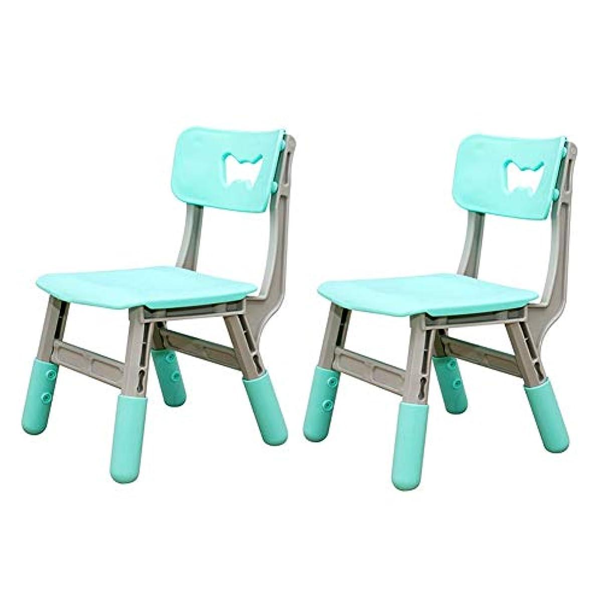 人類廃棄統合CJC テーブル セット の 2 椅子、 子供 シート 調整可能 高さ、 ピクニック パーティー 庭園 保育園 クラブ 屋内 アウトドア 教室 (色 : 青)