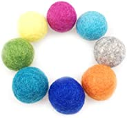 Cat Toy, Felt Cat Candy, 1.1 - 1.2 inches (2.8 - 3 cm), 100% Wool Ball, Handmade, Eco and Natural Wool, Pack o