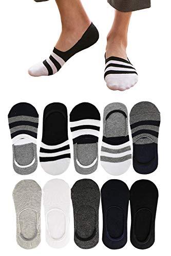 靴下 メンズ くるぶしソックス フットカバー くるぶし靴下 10足セット 浅履き 脱げない 綿 抗菌防臭・通気吸汗 スニーカーソックス 無地 24-28㎝