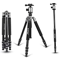 ZoMei Z818 65 Inch Flexible Tripod Lightweight Aluminium Camera Tripod Stand for Canon Sony Nikon Panasonic Olympus Fuji Camera and Camcorder with Ball Head Carry Case and Quick Release(Silver) [並行輸入品]