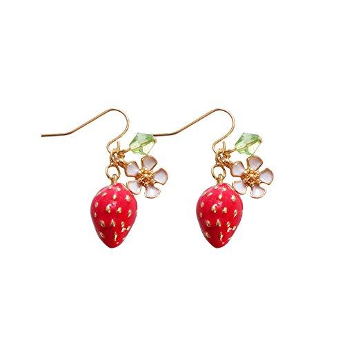 ピアス イチゴ 桜 花 可愛い かわいい おもしろ 面白い フックピアス