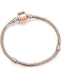 3MM Snake Chain Bracelet Silver Basic Charm Bracelets for Women