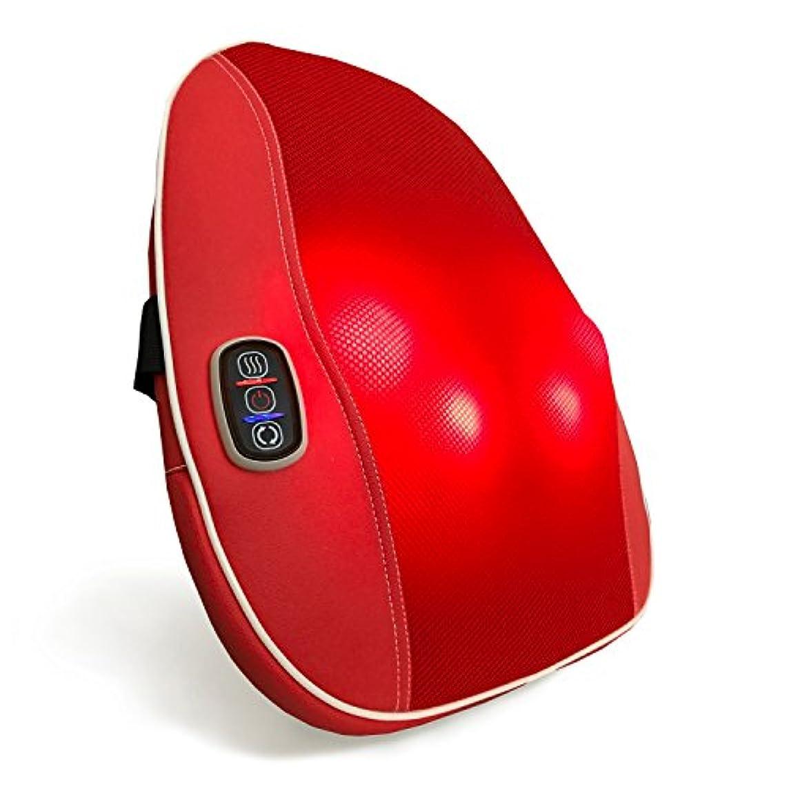 ストライド魅了する節約クロシオ スマートマッサージャー パプリカ レッド 幅40cm 厚み9cm もみ玉式マッサージ器 薄型 簡単操作 マッサージクッション