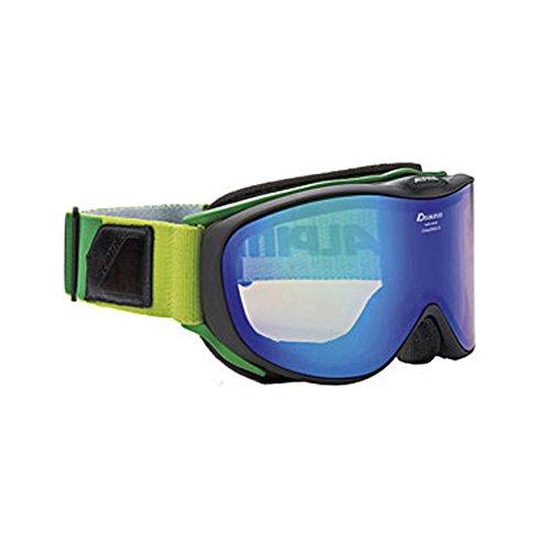 ALPINA(アルピナ)CHALLENGE 2.0 HM スノーゴーグル 大人用 眼鏡使用可能 A7195 ブラックマット×グリーン F
