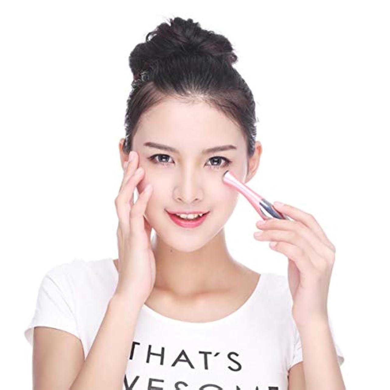 軽蔑結紮士気Mini Portable Handheld Ion Eye Massager Vibration Massage Skin Firming Care Facial Moisturizer Massager Beauty...