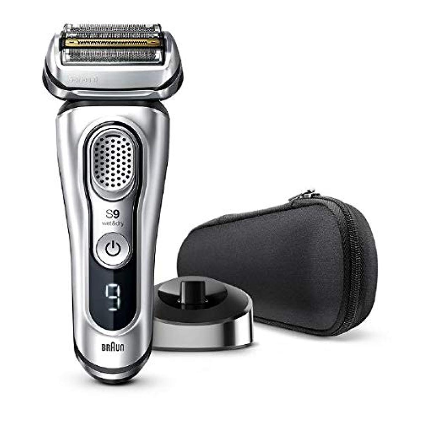 千弾性銀行ブラウン メンズ電気シェーバー シリーズ9 5カットシステム 水洗い/お風呂剃り可 9345s