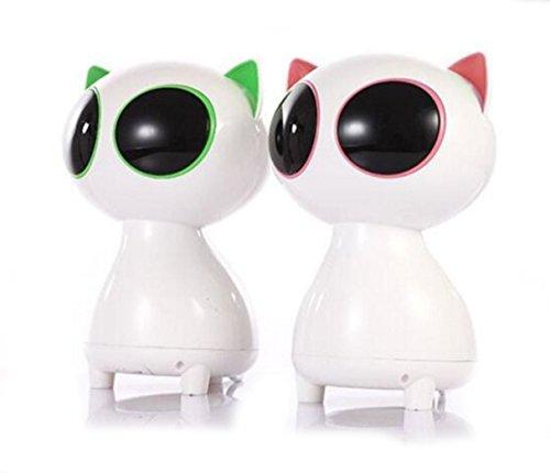 DingDong クーガー漫画猫USBミニノートパソコンデスクトップモバイルBluetoothスピーカーポータブルBluetoothスピーカー (黒と白)