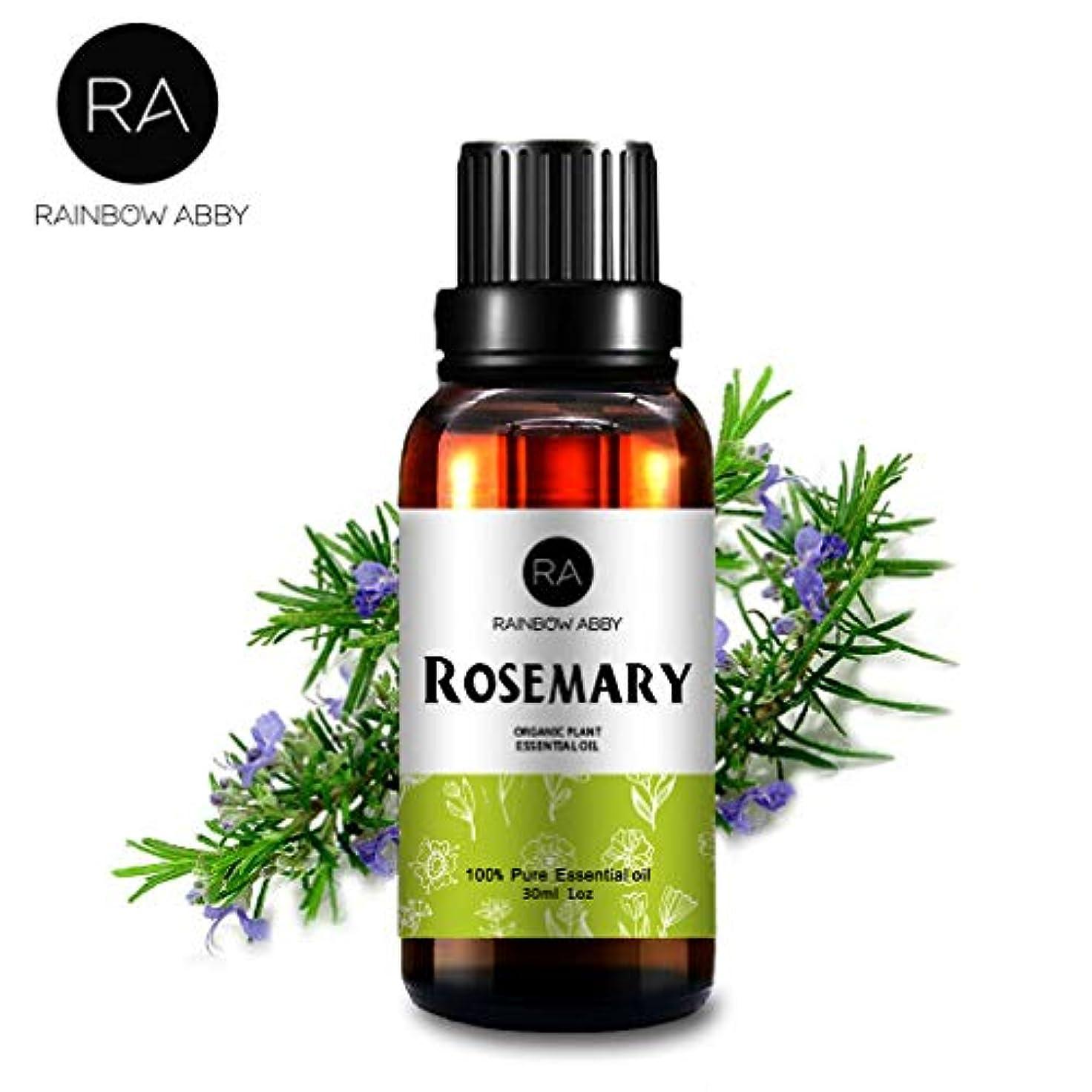 薬を飲むサイズ弱点RAINBOW ABBY ローズマリーエッセンシャル オイル ディフューザー アロマ セラピー オイル (30ML/1oz) 100% ピュアオーガニック 植物 エキスローズマリー オイル