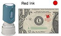 WG ?Lucky bill + URLコレクションスタンプ Xstamper Stamp レッド