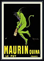 ポスター レオネット カピエッロ Maurin Quina le Puy 額装品 ウッドハイグレードフレーム(ネイビー)