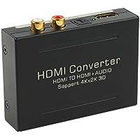 Proster デジタル 4K対応 HDMIから音声信号分離 HDMI SPDIF RCA 出力 オーディオ 分離器 PS4 HDCP 1.4 HDMI 1.4b対応18ヶ月保証