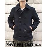 メンズ ピーコート USタイプ海軍 ピーコート JC043YN ブラック 40( L) 【 レプリカ 】 ds-456782
