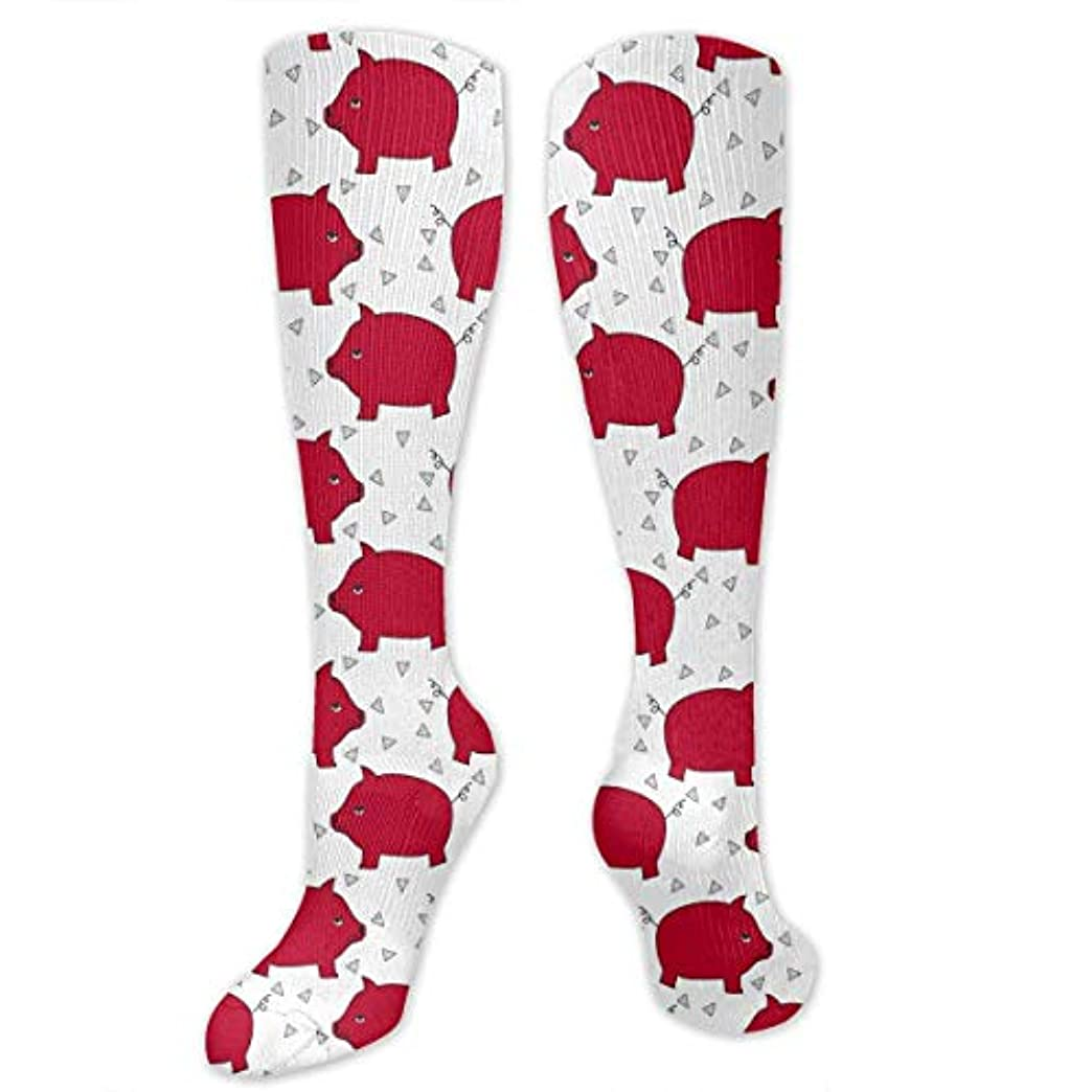 決済同志ゲインセイ靴下,ストッキング,野生のジョーカー,実際,秋の本質,冬必須,サマーウェア&RBXAA Red Pig Piggy Bank Socks Women's Winter Cotton Long Tube Socks Knee...